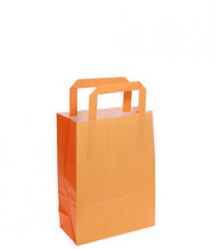 Shoppers carta f.to 22 + 10 x 29 bicolore arancio/ melone