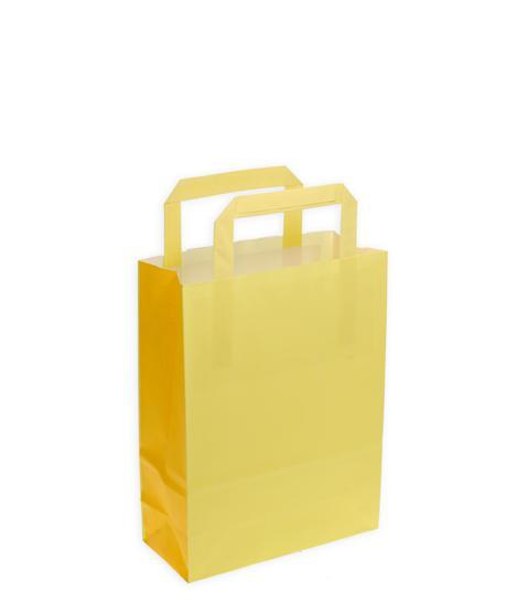 Shoppers carta f.to 22 + 10 x 29 bicolore giallo pompelmo