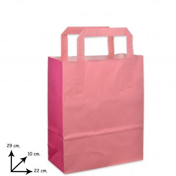 Shoppers carta f.to 22 + 10 x 29 bicolore rosa