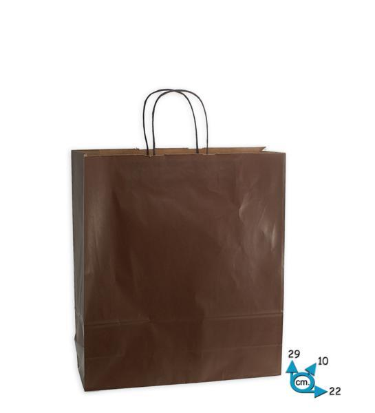 Shoppers carta f.to .22 + 10 x 29 col. marrone