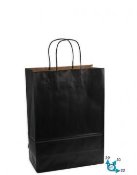 Shoppers carta h29 l22 p10 cm colore nero