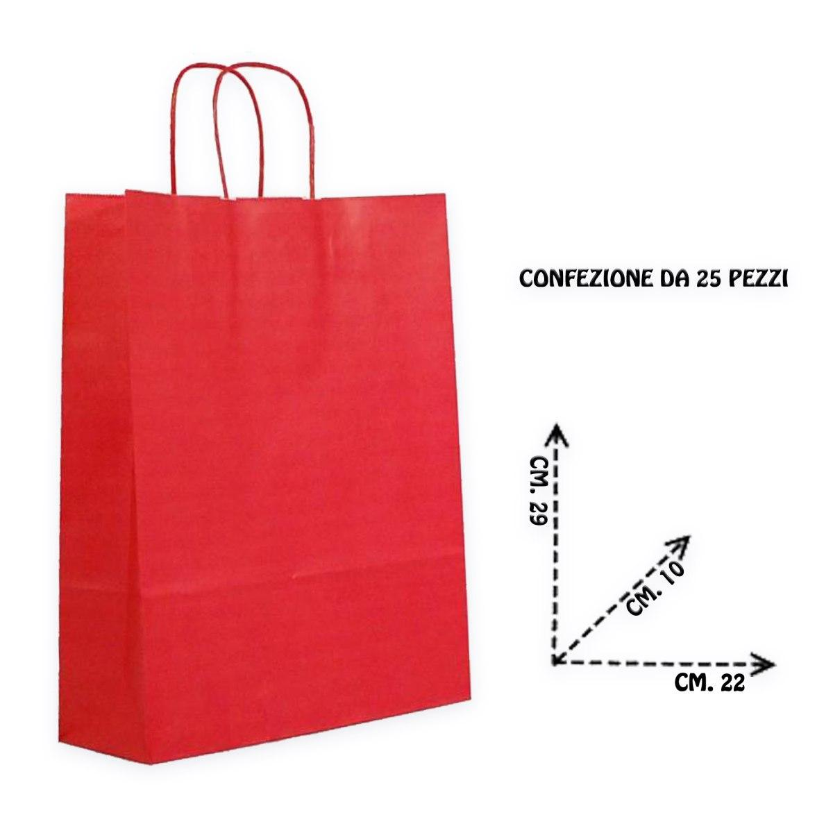Shoppers carta f.to .22 + 10 x 29  colore rosso