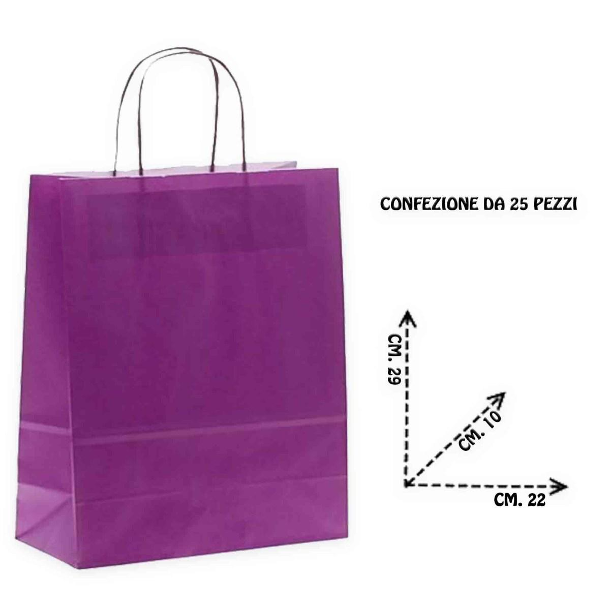 Shoppers carta f.to .22 + 10 x 29 m. r.col. viola
