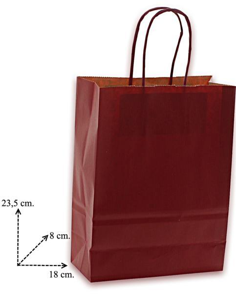 Shoppers carta h24 x l18 x p8 cm colore bordo'