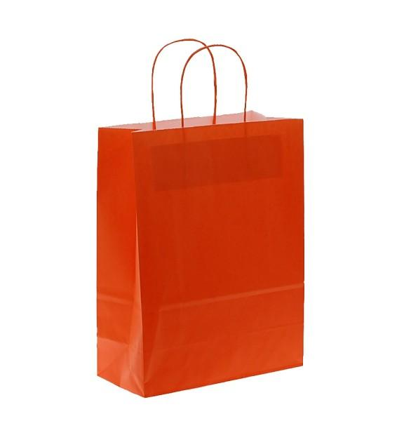 Shoppers carta col.arancio f.to .27 + 12 x 37