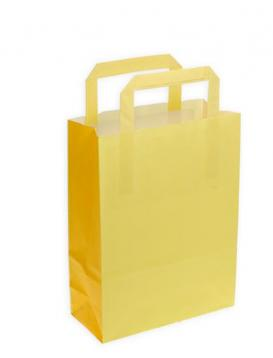 Shoppers carta bicolore giallo p. f.to 27 + 12 x 37