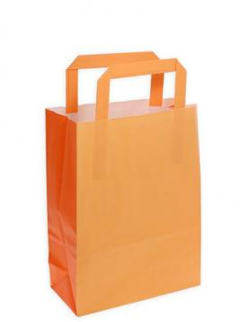 Shoppers carta f.to . 27 + 12 x 37 col. bicolore arancio melone