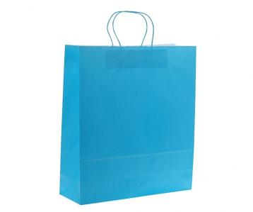 Shoppers carta f.to 27 + 12 x 37 colore turchese