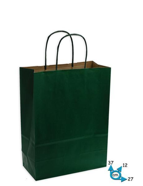 Shoppers carta f.to .27 + 12 x 37 col. verde scuro