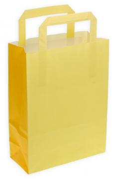 Shoppers carta m.piatto f.to . 32 + 17 x 45 bicolore giallo/pompelmo