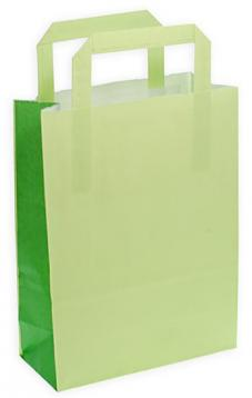 Shoppers carta f.to 32 x 17 x 45 col.verde lime