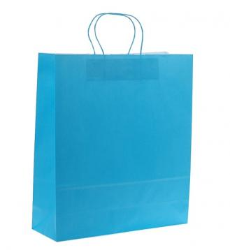 Shoppers carta f.to 36 + 12 x 41 colore turchese