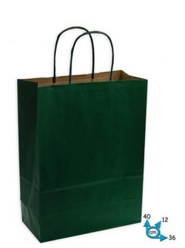 Shoppers carta f.to.36 + 12 x 41 col.verde s. m.ritorto