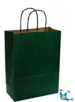 Shoppers carta h49 x l45 x p15 cm colore verde scuro
