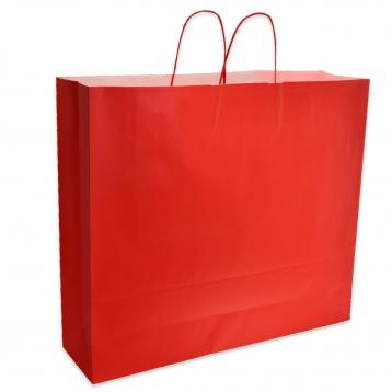 Shoppers carta f.to .55 + 15 x 49 cm.  colore rosso