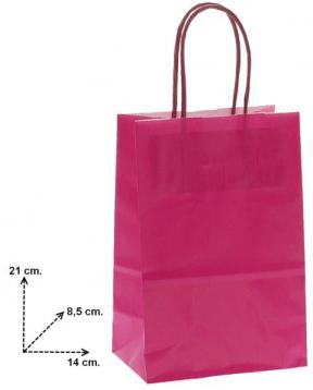 Shoppers carta f.to 14 + 8,5  x  21,5 col.fuxia