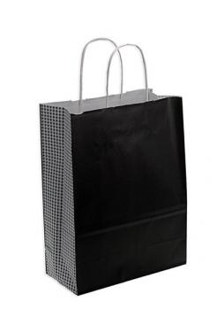 Shoppers carta h41 l32 p13 cm fantasia parigi nero