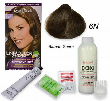 Linfacolor cream 6n biondo scuro 6n