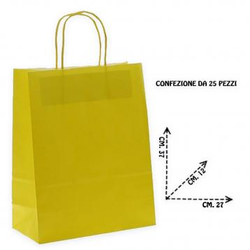 Shoppers carta f.to 27 + 12 x 37 col. giallo