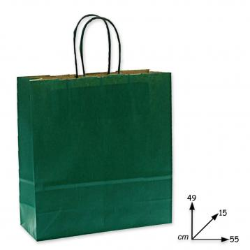 Shoppers carta h49 x l55 x p15 cm colore eco verde scuro