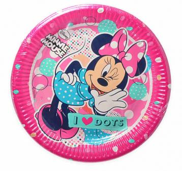 Piatto carta 23 cm  minnie dots