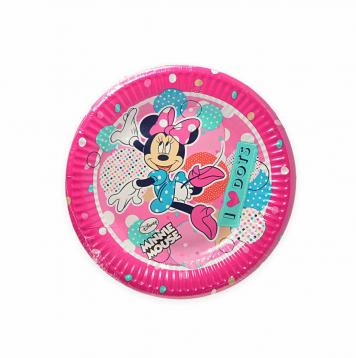 8 piatti carta  20 cm  minnie dots