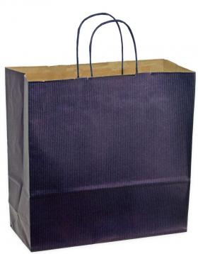 Shoppers carta f.to  55 x 15 x 49 col.blu m. ritorto