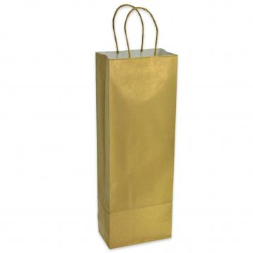 Shoppers xcarta p/bottiglie c.oro f.to 14 x 8,5 x 39,5