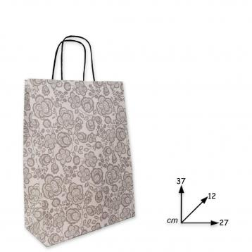 Shoppers carta f.to 27 x 12 x 37 col. damasco grigio m.r.