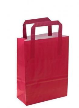 Shoppers carta bicolore bordo' /prugna f.to. 45x 15 x 49