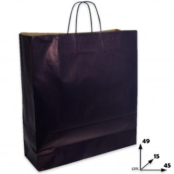 Shoppers carta col.blu m.ritorto f.to 45 x 15 x 49