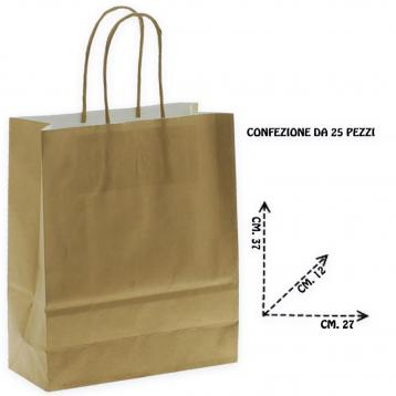 Shoppers carta f.to 27 x 12 x 37 m.r. col. oro