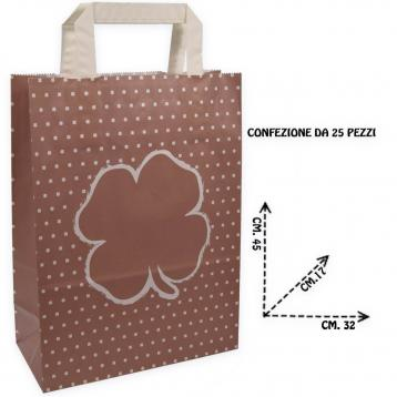 Shoppers carta f.to 32 + 17 x 45 fantasia quadrifoglio