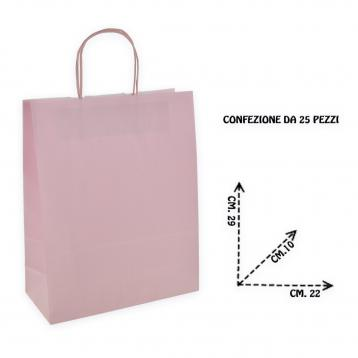 Shoppers carta  f.to 22 + 10 x 29 col. rosa