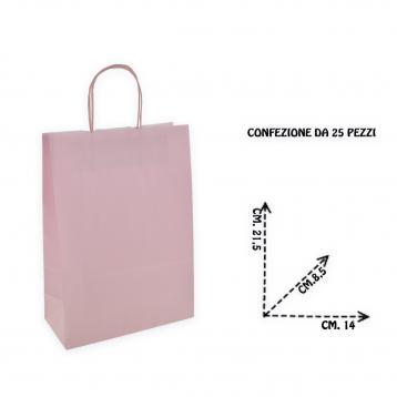 Shoppers f.to 14 + 8,5 x 21,5 colore rosa