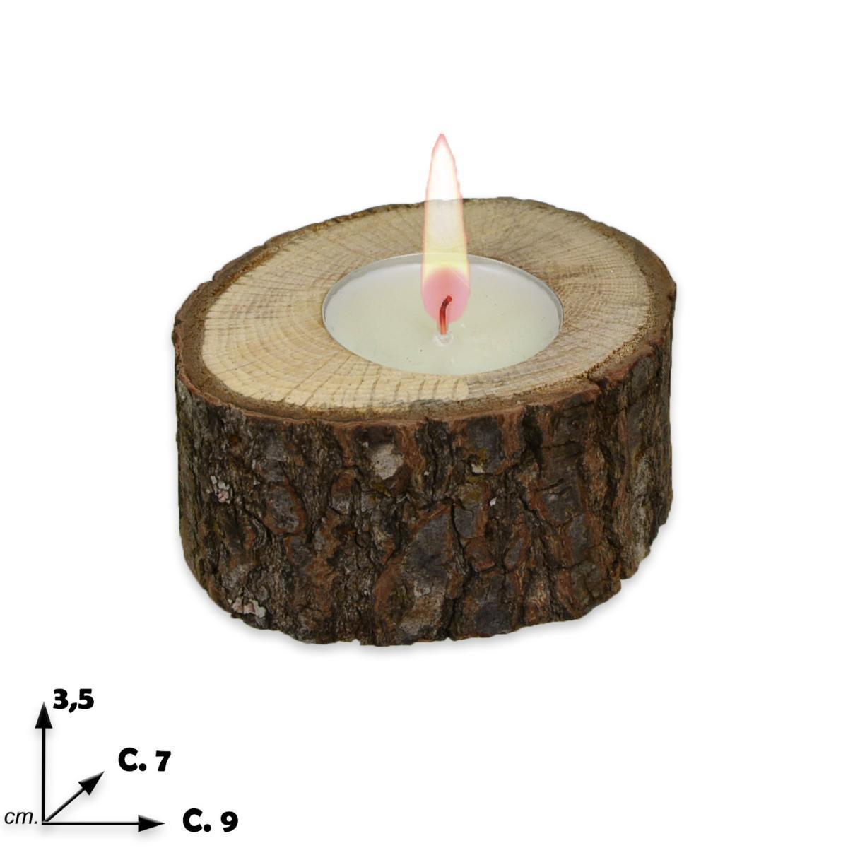 Porta tea light tronco nun pteanun - Porta tea light ...