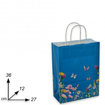 Shopper carta  f.to 27 + 12 x 36  fantasia blumen
