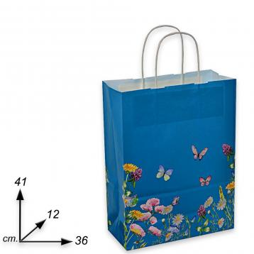 Shopper carta  f.to 36 + 12 x 41 fantasia blumen