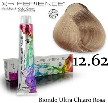 X - perience color cream 100 ml 12.62 biondo ultra chiaro rosa