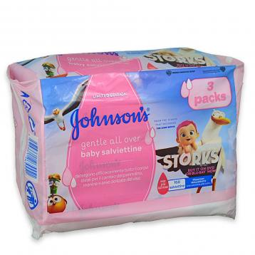 Johnson's baby wipes salv. ric. 3 x 56 pz