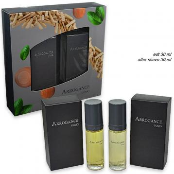 Arrogance uomo edt 30 ml + after shave 30 ml