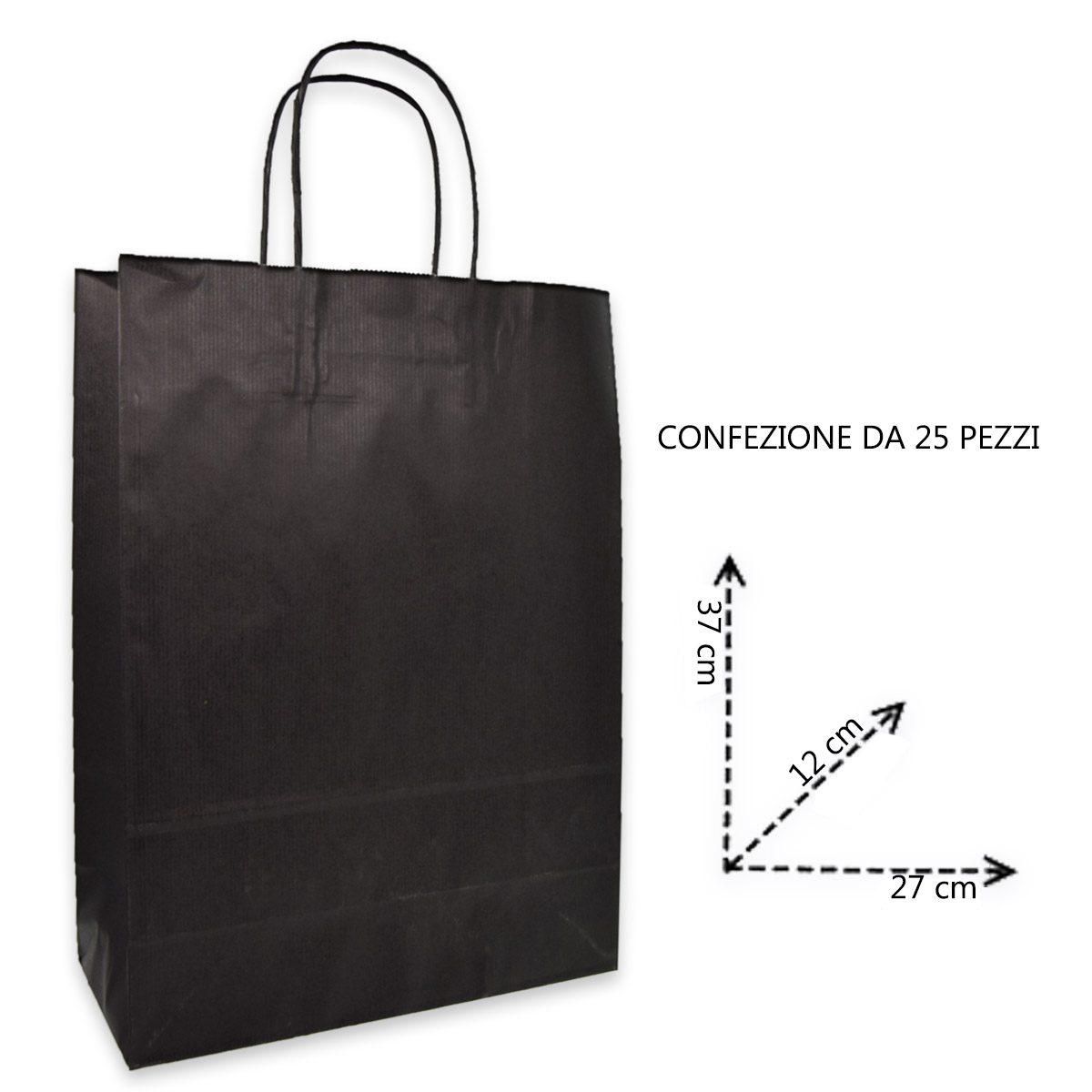 Shoppers carta  h37 x l27 x p12 colore nero