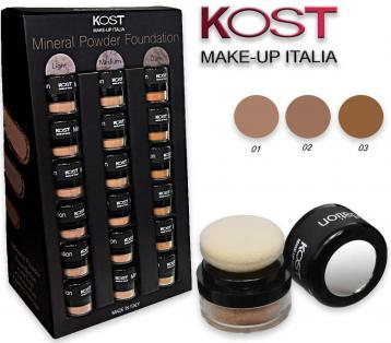 Display fondotinta mineral powder kost 18 pz