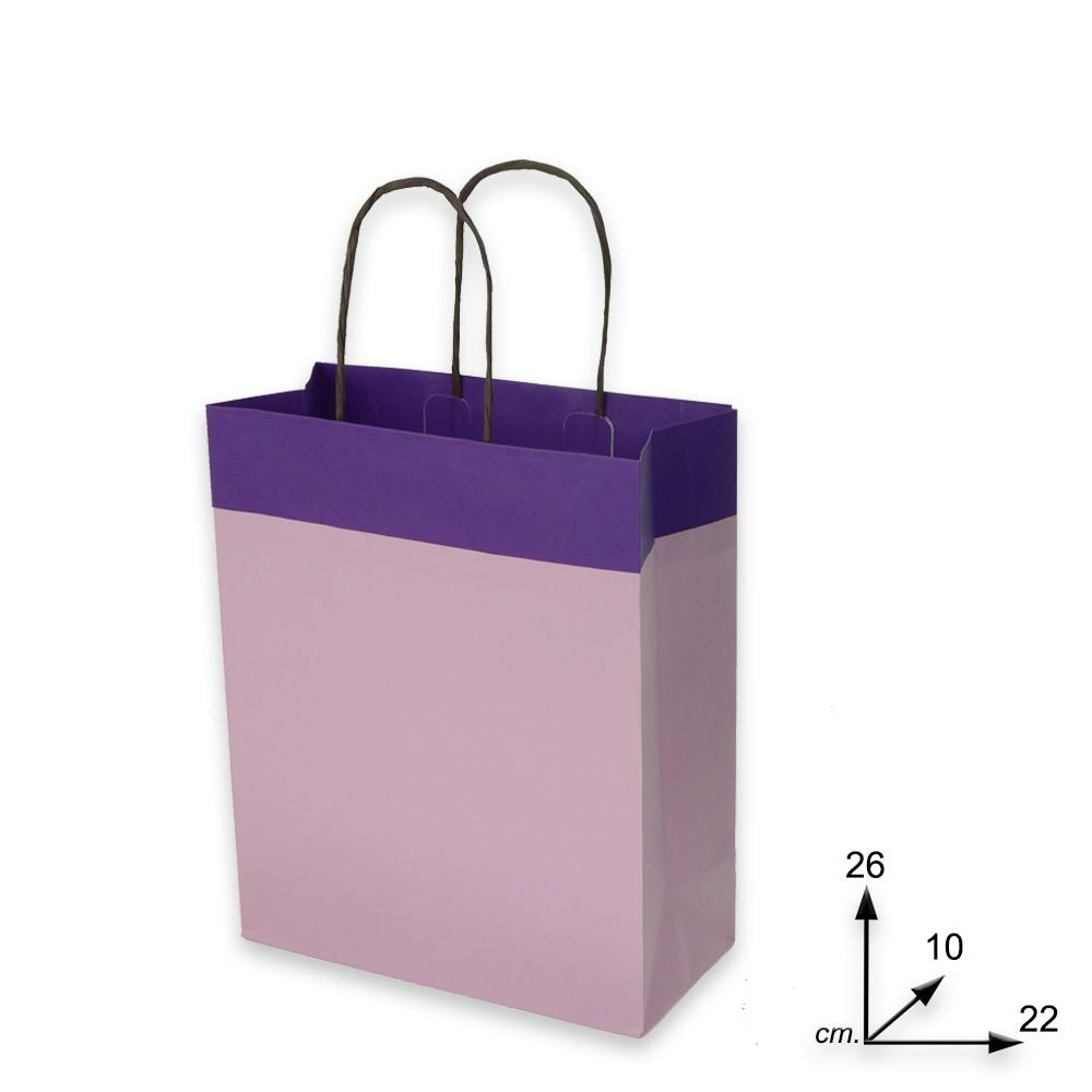 Shoppers carta j-fold  m. r.f.to 22 x 10 x 26  col. duetto viola