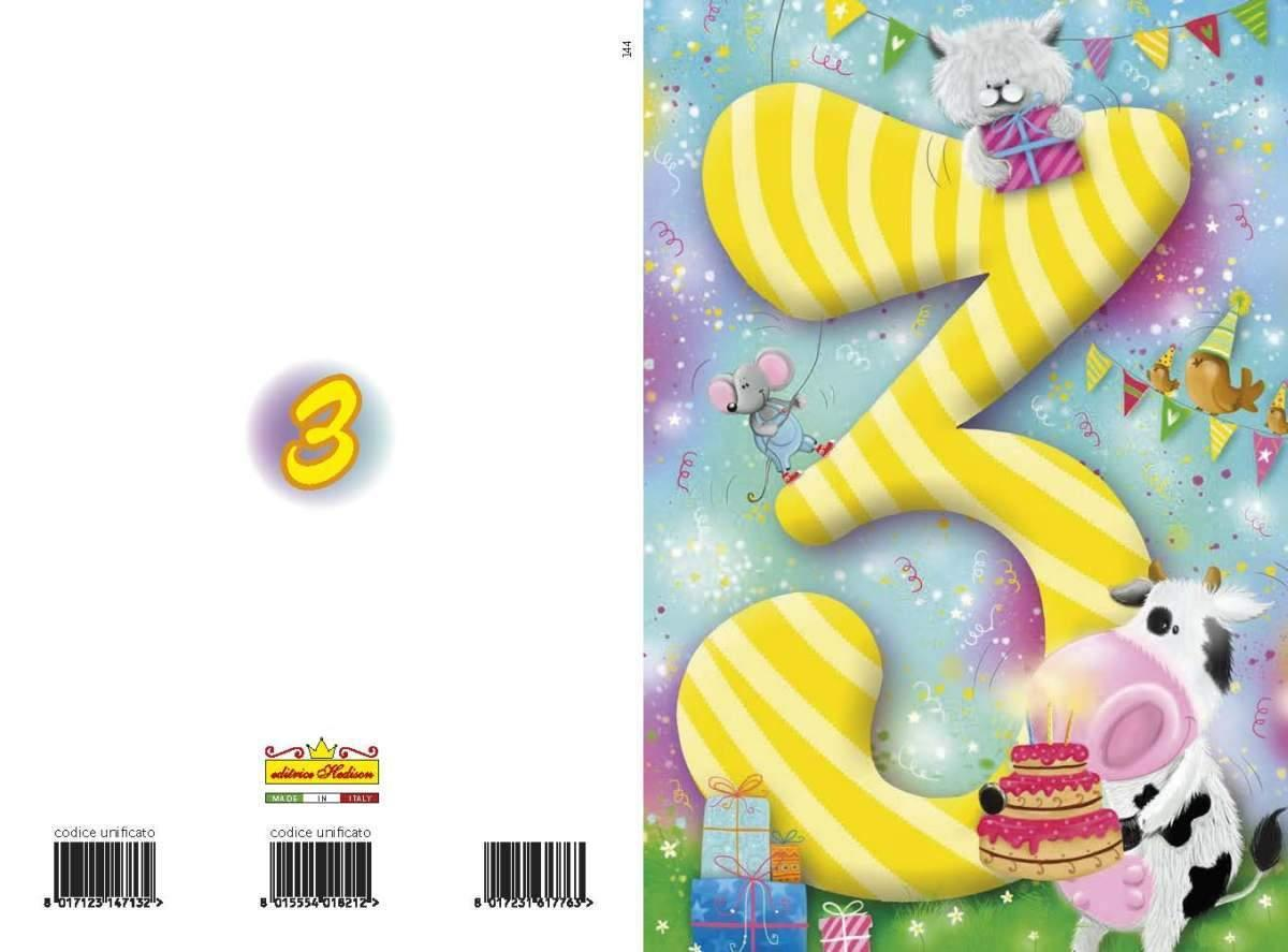 Biglietti Buon Compleanno Bimbi 2 3 Anni Big14344 8002112199742