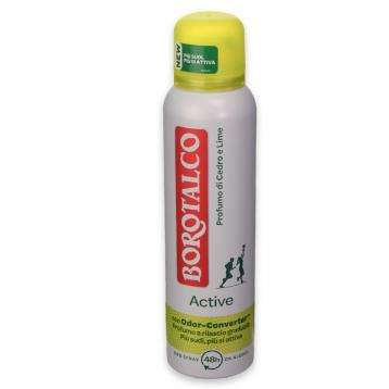Borotalco deo spray 150 ml active giallo