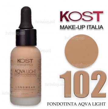 Fondotinta in drop aqvalight kost 102