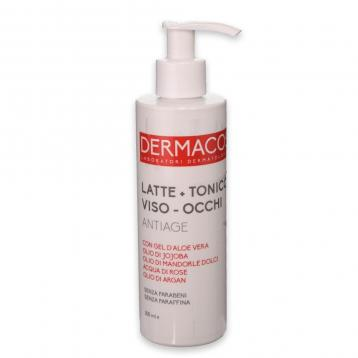 Dermacos latte + tonico viso occhi anti age 200 ml