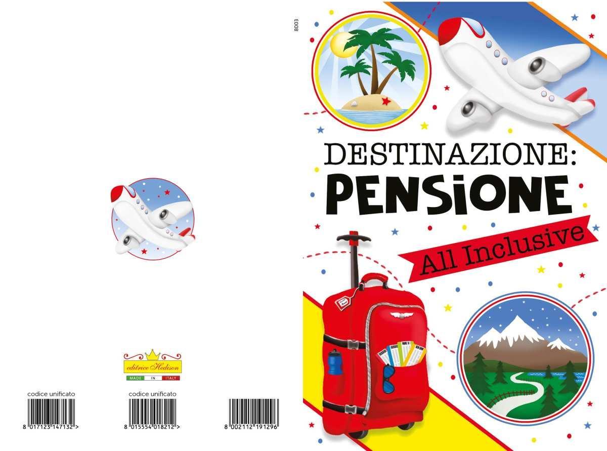 Biglietti Auguri Pensione 2 Soggetti Big80023 9819640305977