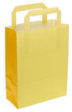 Shoppers carta f.to 45 x 15 x 49 bicolore giallo pompelmo